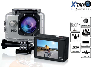Camara CH124 HD Action com Display + Box Impermeável