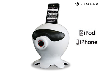 Coluna c/ Subwoofer  2 em 1 | iPhone, iPod, Smartphones & Tablets
