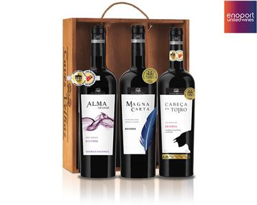 Pack 3 Garrafas de Vinho Tinto Reserva | Douro, Tejo & Alentejo