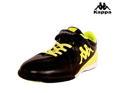 Ténis Kappa® Soccer Velcro | Preto e Amarelo