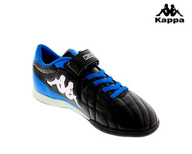 Ténis Kappa® Soccer Velcro   Preto e Azul