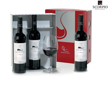 Pack 3 Garrafas de Vinho Monte dos Pitadas + Copo | Branco ou Tinto