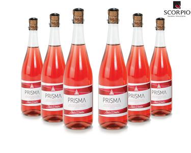 Pack 6 Garrafas De Vinho Prisma Rosé Frisante
