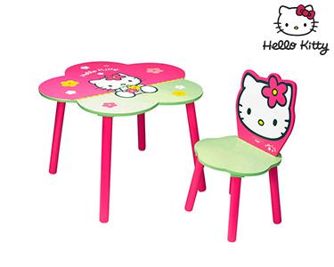 Hello Kitty | Mesa+Cadeira Flor Madeira