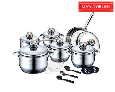 RoyaltyLine® | Trem de Cozinha em Inox 18 Peças
