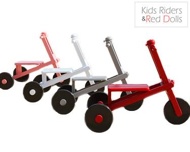 Triciclo Kids Riders&Red Dolls Pintado à Mão | Escolha a Cor