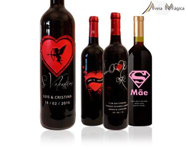 Garrafas de Vinho Personalizadas | Areia Mágica
