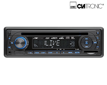 Auto-Rádio Clatronic® | Leitor de CD, USB e Cartões!