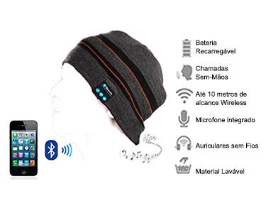 Gorro Bluetooth Altavoz c/ Micro | Compatível com Smartphones & Tablets