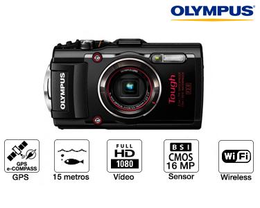 Olympus® TG-4 + Flash LG1 Resistente à Água e Choque | Wi-Fi & Full HD