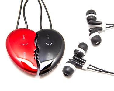 Conjunto de 2 Leitores MP3 em Forma de Coração | 4GB