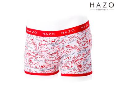 Pack 6 Boxers Hazo® | Vermelho, Preto e Azul