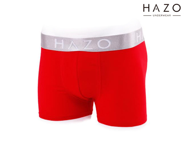 Pack 6 Boxers Hazo®   Vermelho, Turquesa e Preto