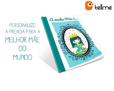 Livro Personalizado p/a Melhor Mãe do Mundo com Saco Ilustrado