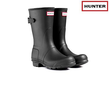 Galochas Hunter® | Original Adjustable Short Preto