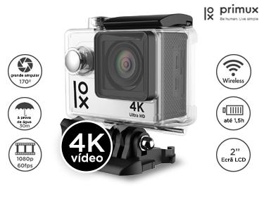Câmara Desportiva 4K Ultra HD | 12 MP | Wi-Fi  + 18 Acessórios