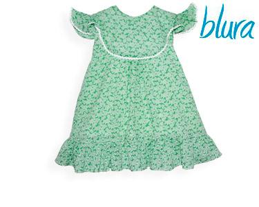 Vestido Verde Blura® c/ Flores e Rendado Branco | Escolha o Tamanho