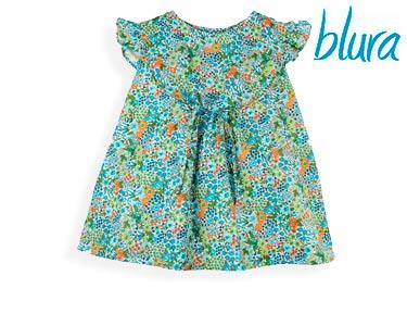 Túnica Blura® Padrão Floral Verde e Azul   Escolha o Tamanho