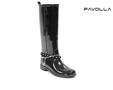 Galochas Favolla® Ribot c/ Fivela e Corrente | Preto