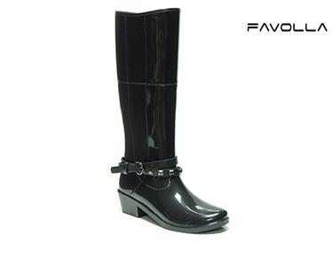 Galochas Favolla® Alaska c/ Cinto Duplo Preto