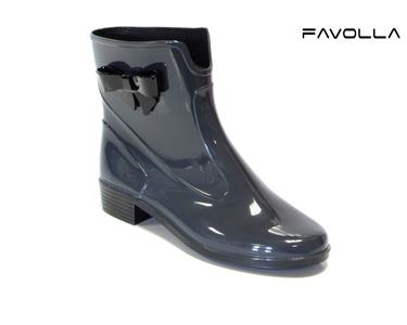 Galochas Favolla® 104 c/ Laço| Cinza Escuro