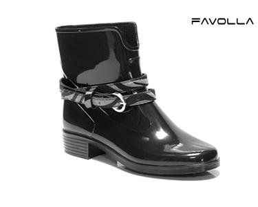 Galochas Favolla® 104 c/ Cinto Zebra | Preto