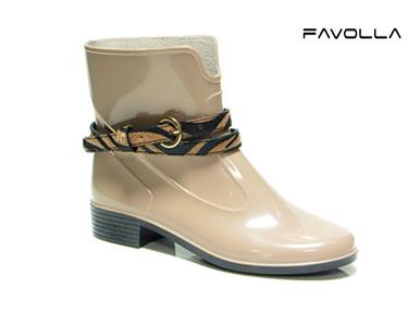 Galochas Favolla® 104 c/ Cinto Zebra | Bege