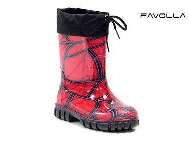 Botas Favolla® Criança 620 | Padrão Vermelho