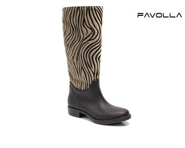Botas Favolla® Texas | Padrão Zebra Bege