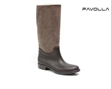 Botas Favolla® Texas c/ Pêlo de Carneiro  Castanho
