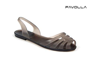 Sandálias Favolla® Matilda | Preto Esfumaçado