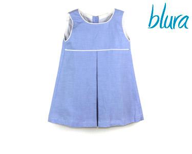 Vestido de Linho Blura® Azul s/ Mangas | Escolha o Tamanho