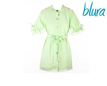 Vestido Blura® Verde c/ Riscas | Escolha o Tamanho