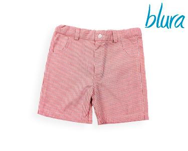 Calções Blura® c/ Riscas Vermelhas | Escolha o Tamanho