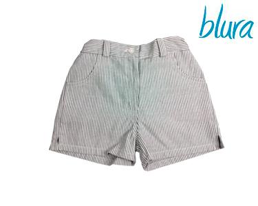 Calções Blura® Menina c/ Riscas Azuis   Escolha o Tamanho