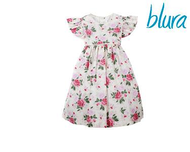 Vestido Bege Blura® c/ Rosas | Tamanho 10 Anos