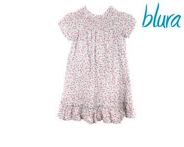 Vestido Blura® c/ Rosas Verdes e Vermelhas | Tamanho 10 Anos