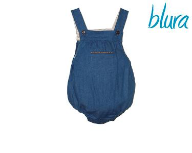 Fofo Macacão Blura® Azul Denim   Tamanho 1 Ano