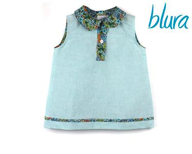 Vestido Blura® Verde Água c/ Flores | Escolha o Tamanho