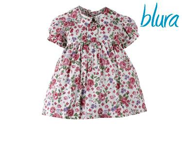 Vestido Blura® Florido c/ Gola e Laço  | Escolha o Tamanho