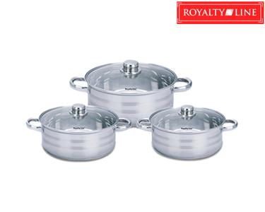 Trem de 6 Peças de Cozinha Royalty Line® Inox | Ajustados Stock Pot