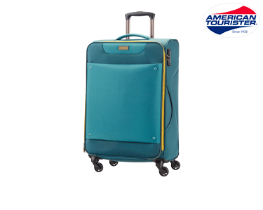 Mala American Tourister® Ocean Grove 69cm| Spinner Azul Petróleo