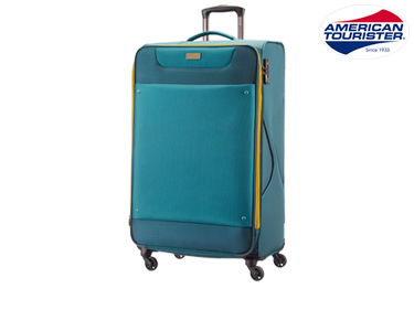 Mala American Tourister® Ocean Grove 79cm   Spinner Azul Petróleo