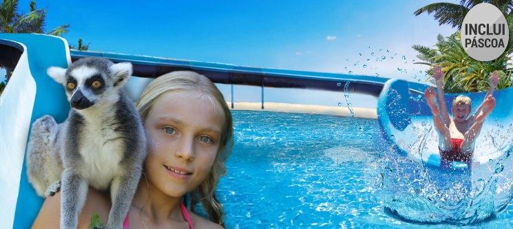 Páscoa em Família   3 Noites em Resort + Entradas no Parque Krazy World