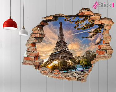 Vinil Design 3D | Torre Eiffel