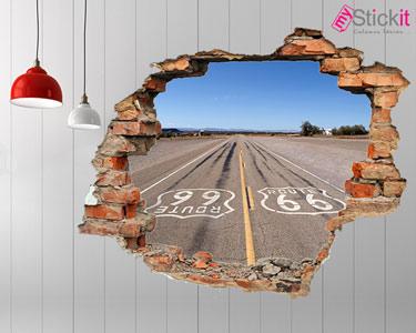 Vinil Design 3D   Route 66