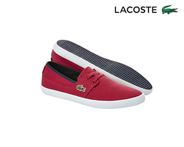 Sapatos de Vela Lacoste® Marice Lace Homem | Vermelho