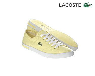 Ténis Lacoste® Ramer | Amarelo Claro