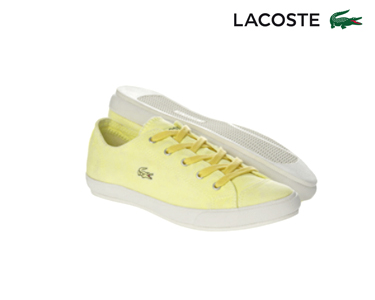 Ténis Lacoste® Fairburn Mulher | Amarelo