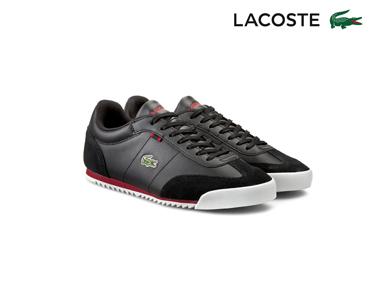 Ténis Lacoste® Romeau Homem | Preto e Vermelho